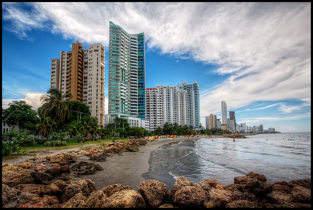 Bocagrande, Cartagena, Colombia - Photo: Pedro Szekely via Flickr, used under Creative Commons License (By 2.0)