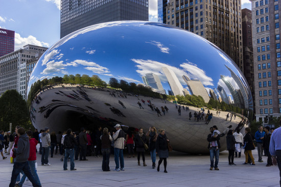 Millennium Park, Chicago- Photo: Miguel Mendez via Flickr, used under Creative Commons License (By 2.0)
