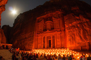 Petra at Night, Petra, Jordan - Photo: Sylvain L. via Flickr, used under Creative Commons License (By 2.0)