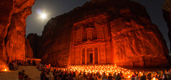 Petra at Night, Petra, Jordan - Photo: Sylvain L. via Flickr, used under Creative Commons License (By 2.0)