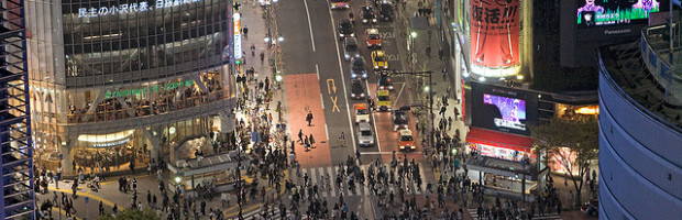 Shibuya Crossing, Tokyo, Japan - Photo: Curt Smith via Flicker, used under Creative Commons License (By 2.0)