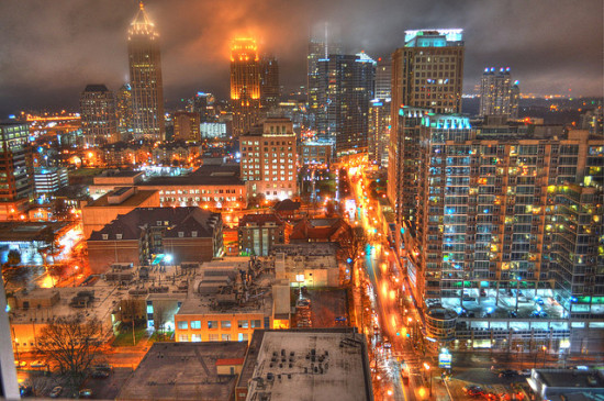 Skyline, Atlanta, Georgia - Photo: Mike via Flickr, used under Creative Commons License (By 2.0)