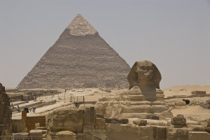 The Great Pyramid and Sphinx, outskirts of Cairo, Egypt - Photo: SJ Pinkney via Flickr, used under Creative Commons License (By 2.0)
