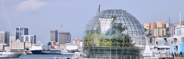 La Bolla di Renzo Piano; Porto Antico Genoa, Genoa, Italy - Photo: Christine Zenino via Flickr, used under Creative Commons License (By 2.0)