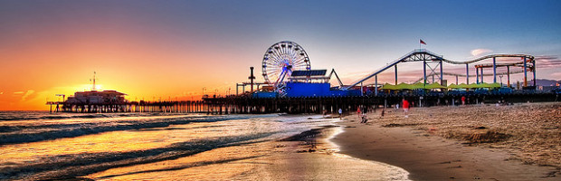Santa Monica Pier - Photo: Pedro Szekely via Flickr, used under Creative Commons License (By 2.0)