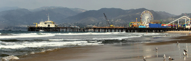 Santa Monica Beach, Los Angeles, California  - Photo: Airwolfhound via Flickr, used under Creative Commons License (By 2.0)
