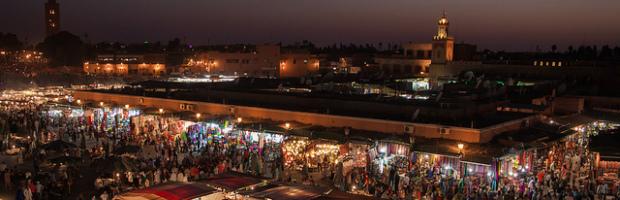 Jemaa el-Fnaa, Marrakech, Morocco - Photo: Jorge Láscar via Flickr, used under Creative Commons License (By 2.0)