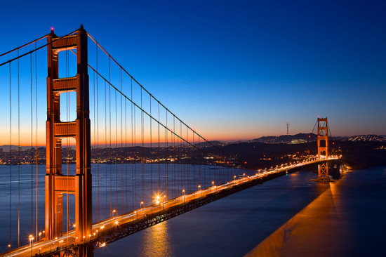 Golden Gate Bridge at Dawn, San Francisco, California  - Photo: Nicolas Raymond via freestock.ca, used under Creative Commons License (By 2.0)