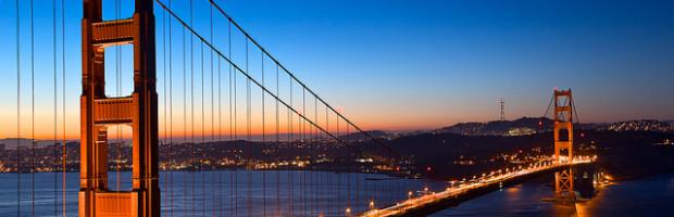 Golden Gate Bridge at Dawn, San Francisco, California  - Photo: Nicolas Raymond via freestock.ca, used under Creative Commons License (By 2.0)