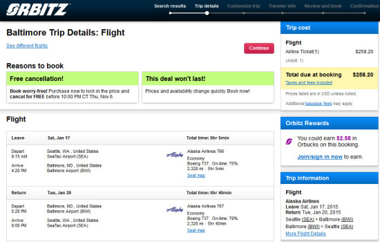 The Flight Deal Alaska 258 Seattle Baltimore And