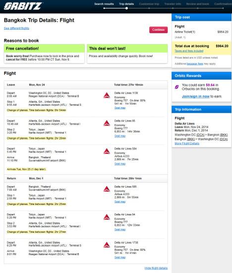 The Flight Deal | Delta – $965: Washington D.C. – Bangkok ...