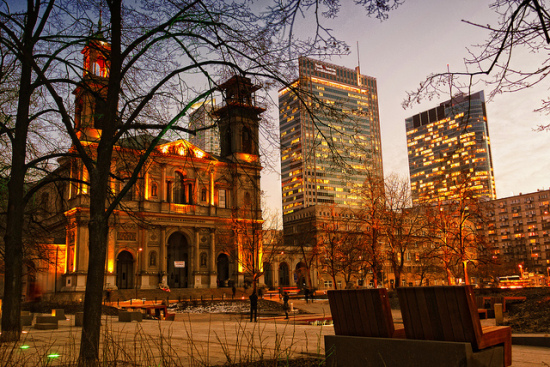 Warszawa Grzybowski Square, Warsaw, Poland - Photo: Adam Smok via Flickr, used under Creative Commons License (By 2.0)