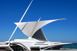 Quadracci Pavilion, Milwaukee Art Museum, Milwaukee, Wisconsin - Photo: O Palsson via Flickr, used under Creative Commons License (By 2.0)