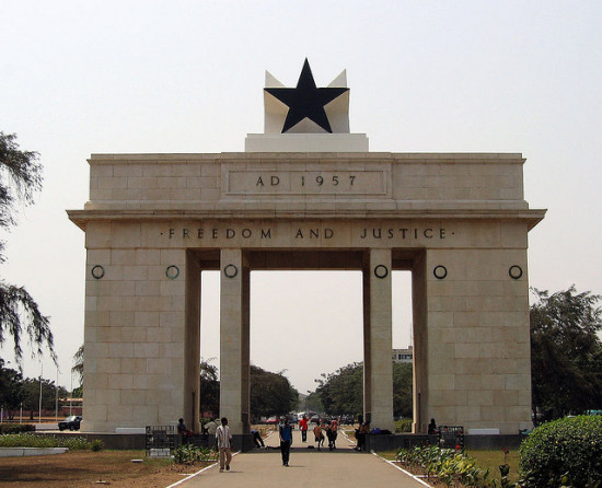 Independence Arch, Accra, Ghana - Photo: Stig Nygaard via Flickr, used under Creative Commons License (By 2.0)