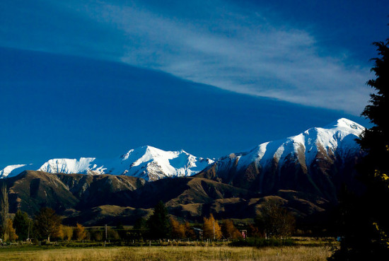 Southern Alps, near Christchurch, New Zealand - Photo: Corey Leopold via Flickr, used under Creative Commons License (By 2.0)
