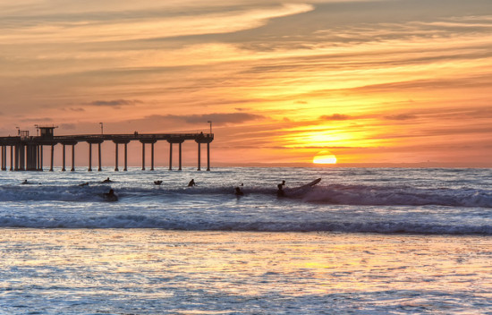 Ocean Beach Pier, San Diego, California - Photo: Chad McDonald via Flickr, used under Creative Commons License (By 2.0)