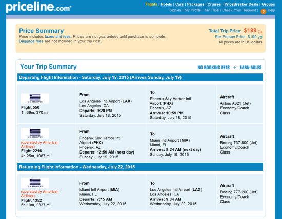 The Flight Deal Us Airways 200 Los Angeles Miami