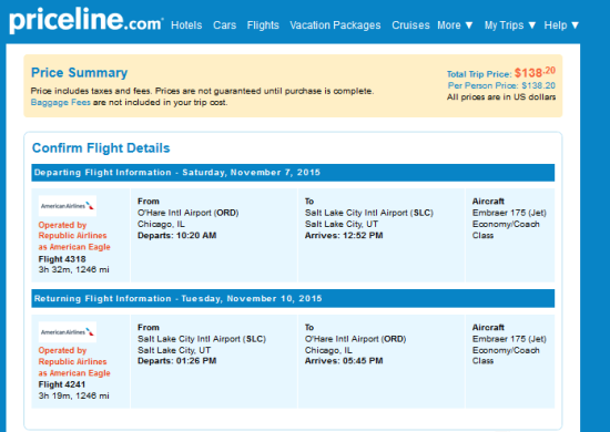 The Flight Deal American 138 Chicago Salt Lake