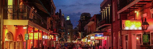 Bourbon Street, New Orleans, Louisiana - Photo: Lars Plougmann via Flickr, used under Creative Commons License (By 2.0)