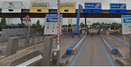 Toll booths in Italy
