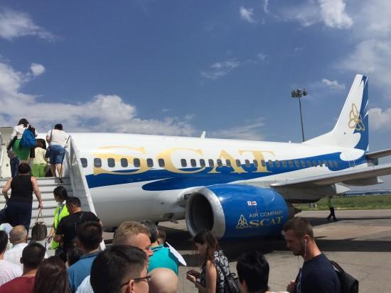 Boarding SCAT flight in Almaty, Kazakhstan - Photo: (c) 2015 Jonathan Khoo