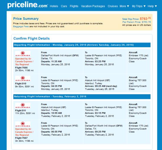 Priceline Toronto Car Rental