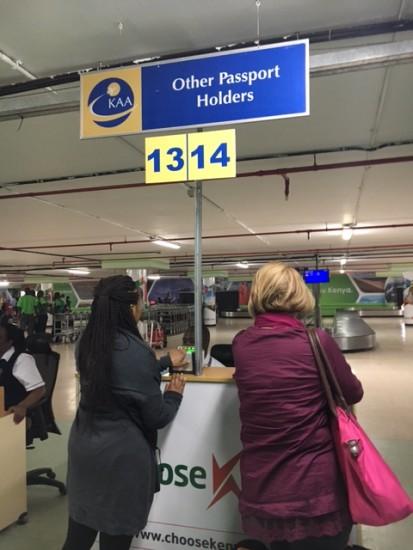 Immigration at Jomo Kenyatta International Airport, Nairobi, Kenya - Photo: (c) 2016 - Brian Oliver of Beyond Bmore