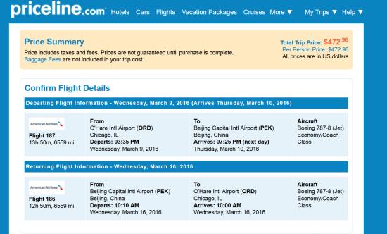 The Flight Deal American 473 Chicago Beijing