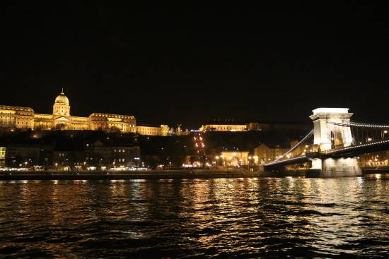 Castle and Chain Bridge by Night, Budapest, Hungary - Photo: (c) 2016 -Jonathan of Two if by Air