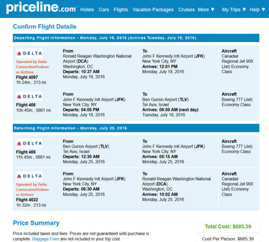 Dca Rental Cars >> The Flight Deal | [FARE GONE] Delta – $685: Washington D.C. / Chicago – Tel Aviv, Israel ...