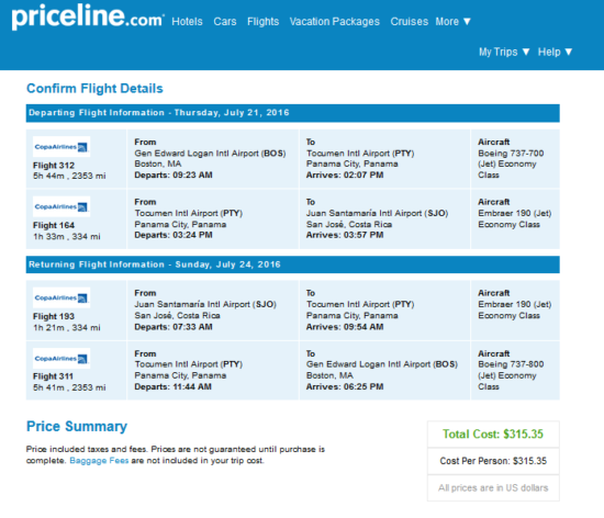 The Flight Deal Copa 315 Boston San Jose Costa