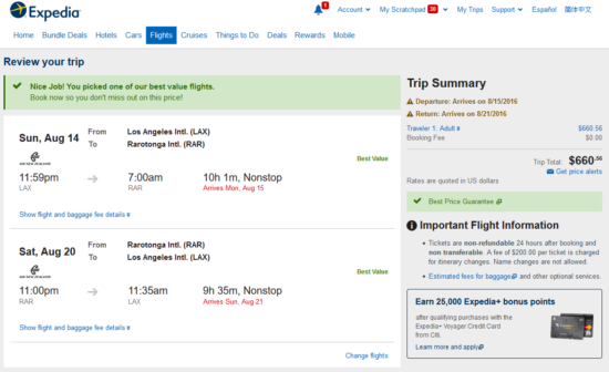 $661 for August - November travel