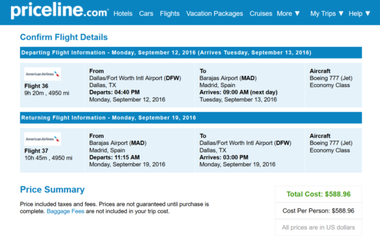 Dallas to Madrid for $589 nonstop on AA!!!!!!!!!