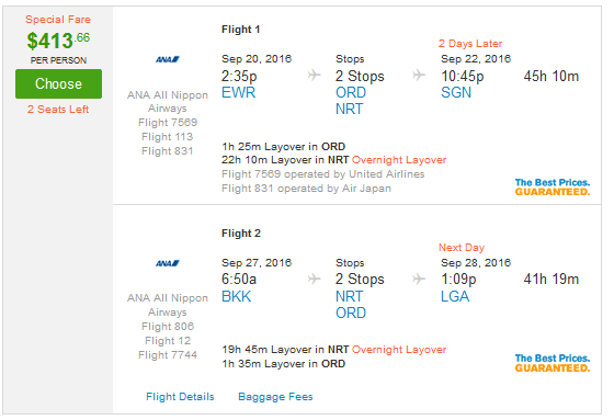 airfare from chicago to new york city