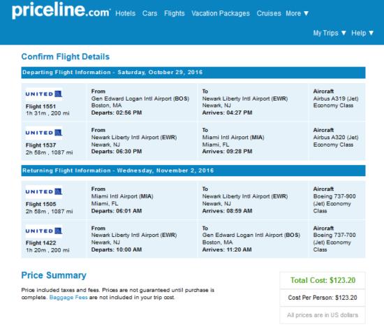 The Flight Deal United 123 Boston Miami And Vice