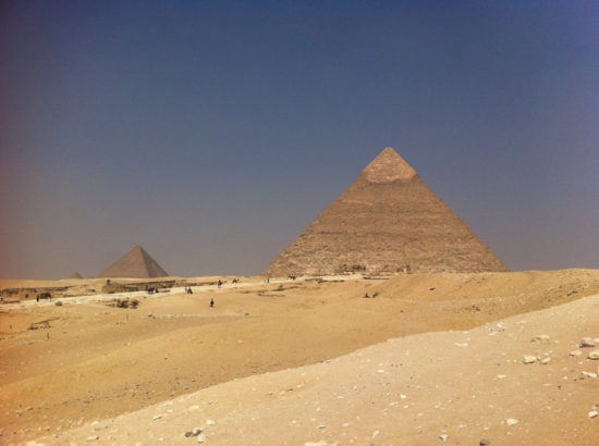 The Pyramids of Giza—seems like my phone's camera is on the decline and the aging filter look here is all natural. Cairo, Egypt - Photo: (c) 2016 - Varud Gupta of Bicoastal Cooks
