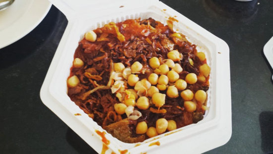 Koshari – considered by some to be the national dish, this mix of lentils, chickpeas, pasta, onions, and tomato sauce was born from the various culinary influences over time. Cairo, Egypt - Photo: (c) 2016 - Varud Gupta of Bicoastal Cooks