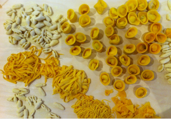 The Pastas we made as part of Mama Florence's Pasta Making class, Florence, Italy - Photo: (c) 2016 - Varud Gupta of Bicoastal Cooks