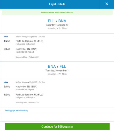 JetBlue – $96: Fort Lauderdale