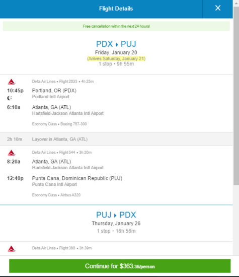 The Flight Deal Delta 363 Portland Punta Cana