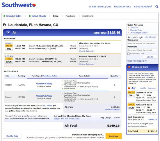 The Flight Deal Southwest 149 Fort Lauderdale