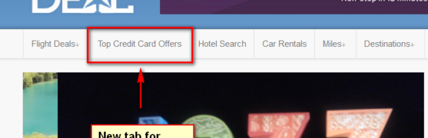 the flight deal  new feature top credit card offers