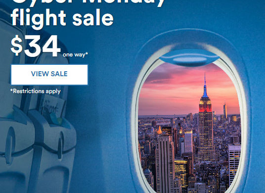 flights cyber monday deals