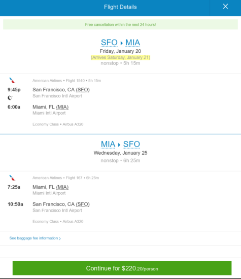 The Flight Deal American 220 San Francisco Miami