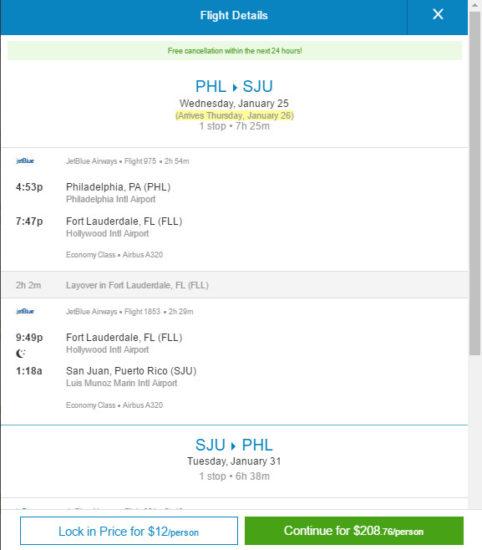 JetBlue – $209: Philadelphia – San Juan