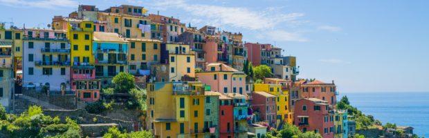 Arriving at Corniglia on the trail from Vernazza, Cinque Terre, Italy.- Photo: (c) Adam Smith