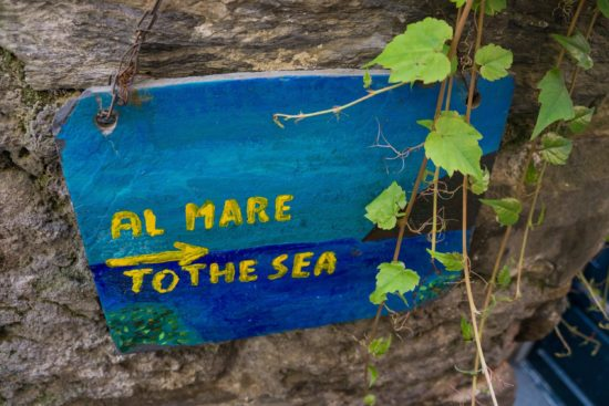 A quaint sign in Vernazza, Cinque Terre, Italy.- Photo: (c) Adam Smith