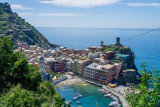 Heading down into Vernazza from Monterosso, Cinque Terre, Italy.- Photo: (c) Adam Smith
