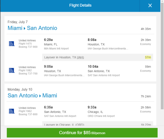 [Summer Fare] United – $86: Miami – San