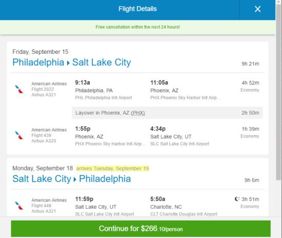 Phx Car Rental Deals The Flight Deal | American – $266: Philadelphia – Salt Lake City ...